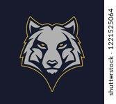 Wolf Mascot Vector Art. Fronta...