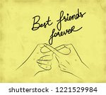 best friends forever with... | Shutterstock .eps vector #1221529984