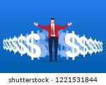 business leadership of... | Shutterstock .eps vector #1221531844