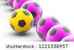 soccerball. 3d illustration. | Shutterstock . vector #1221538957