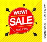sale speech bubble banner... | Shutterstock .eps vector #1221542494