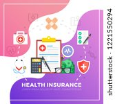 health insurance. flat design...