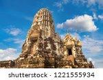 ayutthaya historical park in...   Shutterstock . vector #1221555934