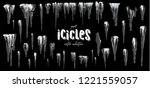 vector collection of icicles ... | Shutterstock .eps vector #1221559057