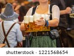 oktoberfest  munich  germany.... | Shutterstock . vector #1221568654