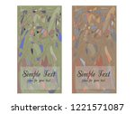 set of two cards with abstract... | Shutterstock .eps vector #1221571087