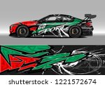 car decal graphic vector  wrap...   Shutterstock .eps vector #1221572674