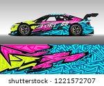 car decal graphic vector  wrap... | Shutterstock .eps vector #1221572707
