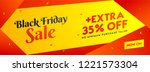 black friday sale header or... | Shutterstock .eps vector #1221573304