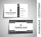 modern simple business card set ... | Shutterstock .eps vector #1221579664