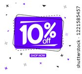sale 10  off  banner design... | Shutterstock .eps vector #1221585457