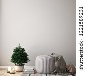 mock up poster on the white...   Shutterstock . vector #1221589231