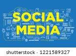 illustration of creative banner ... | Shutterstock .eps vector #1221589327