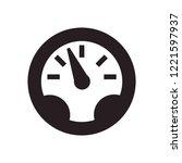 gauge vector icon. speedometer... | Shutterstock .eps vector #1221597937