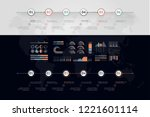 timeline vector infographic.... | Shutterstock .eps vector #1221601114