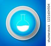 white test tube and flask  ... | Shutterstock .eps vector #1221604504