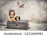 Teddy Bear With Leather Aviator'...