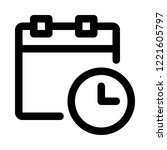 calendar deadline limit | Shutterstock .eps vector #1221605797