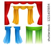 set of realistic colorful... | Shutterstock .eps vector #1221605854