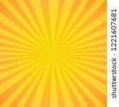 vintage sunburst poster  vector ... | Shutterstock .eps vector #1221607681