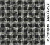 monochrome checked grain stroke ... | Shutterstock .eps vector #1221611971