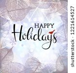 festive winter background of...   Shutterstock .eps vector #1221614527