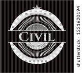 civil silver emblem or badge | Shutterstock .eps vector #1221620194