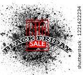 black friday sale background ... | Shutterstock .eps vector #1221622234