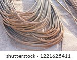 close up steel rebar for... | Shutterstock . vector #1221625411