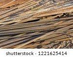 close up steel rebar for... | Shutterstock . vector #1221625414