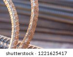 close up steel rebar for... | Shutterstock . vector #1221625417