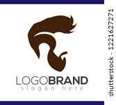 hair man logo vector element....   Shutterstock .eps vector #1221627271