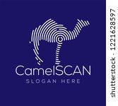 camel scan technology logo...   Shutterstock .eps vector #1221628597