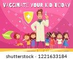 kids vaccination benefits... | Shutterstock .eps vector #1221633184