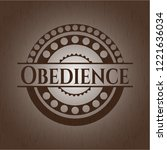 obedience wood icon or emblem | Shutterstock .eps vector #1221636034