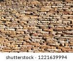 stone wall texture   Shutterstock . vector #1221639994