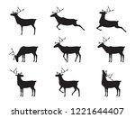 graphic deers  vector | Shutterstock .eps vector #1221644407