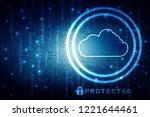 2d rendering cloud computing | Shutterstock . vector #1221644461