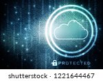 2d rendering cloud computing | Shutterstock . vector #1221644467