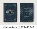christmas greeting card design... | Shutterstock .eps vector #1221649747