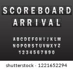 alphabet on scoreboard. set of... | Shutterstock .eps vector #1221652294