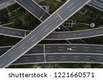 aerial view of highway and...   Shutterstock . vector #1221660571