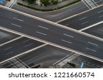aerial view of highway and... | Shutterstock . vector #1221660574