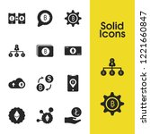finance icons set with banknote ...