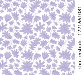 seamless pattern with flowers... | Shutterstock .eps vector #1221661081