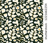 floral seamless pattern with... | Shutterstock .eps vector #1221662254