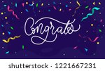 congratulations design template ... | Shutterstock .eps vector #1221667231