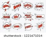 big set hand drawn template... | Shutterstock .eps vector #1221671014