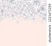 christmas background with white ... | Shutterstock .eps vector #1221671254
