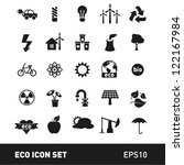 ecology and environment icon set | Shutterstock .eps vector #122167984